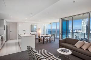 2 Bedroom Deluxe Ocean View Residence Living Area